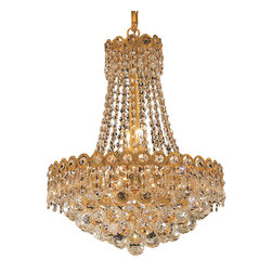 Elegant Lighting - Elegant Lighting 1901D16G/RC Century Collection Hanging Fixture - Elegant Lighting 1901D16G/RC Century Collection Hanging Fixture