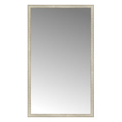 """Posters 2 Prints, LLC - 43"""" x 73"""" Libretto Antique Silver Custom Framed Mirror - 43"""" x 73"""" Custom Framed Mirror made by Posters 2 Prints. Standard glass with unrivaled selection of crafted mirror frames.  Protected with category II safety backing to keep glass fragments together should the mirror be accidentally broken.  Safe arrival guaranteed.  Made in the United States of America"""