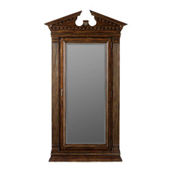 Hooker Furniture - Hooker Furniture Adagio Floor Mirror 5091-50002 - Grand scale, classic design and soft, flowing shapes are married with a rich, dark finish to give birth to the stunning Adagio collection.