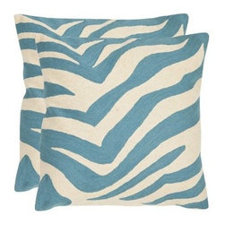 Safavieh Joseph Decorative Pillows - Set of 2 - Add a bit of the exotic to your home with the bold and stunning Safavieh Joseph Decorative Pillows - Set of 2. Available in your choice of rich colors, these pillows are made from 100% cotton canvas and feature hand-stitched embroidery as well as a hypoallergenic fiberfill insert for hygiene. Spot clean only. About SafaviehConsidered the authority on fine quality, craftsmanship, and style since their inception in 1914, Safavieh is most successful in the home furnishings industry thanks to their talent for combining high tech with high touch. For four generations, the family behind the Safavieh brand has dedicated its talents and resources to providing uncompromising quality. They hold the durability, beauty, and artistry of their handmade rugs, well-crafted furniture, and decorative accents in the highest regard. That's why they focus their efforts on developing the highest quality products to suit the broadest range of budgets. Their mission is perpetuate the interior furnishings craft and lead with innovation while preserving centuries-old traditions in categories from antique reproductions to fashion-forward contemporary trends.