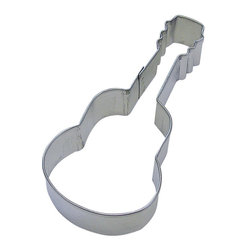 RM - Guitar 4.5 In.  B1355X - Guitar cookie cutter, made of sturdy tin, Size 4.5 in., Depth 7/8 in., Color silver