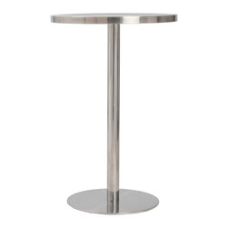 Euro Style - Euro Style Caitlin Counter Table // Stainless Steel - Counter, Bar and Bistro. The Caitlin tables are the great entertainers. Stainless steel tops don t scratch. Polished steel columns and bases are steady. And they always look great. No understudies required!