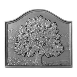 "Pennsylvania Firebacks - 18"" x 16"" Small Oak Fireback - Same motif as our popular Great Oak, but designed for todays prefab and smaller fireplaces. A homage to all that we receive from the tree and the Oak in particular as a symbol of strength and durability.Fireback by J. Del Conner"