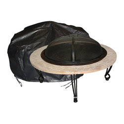 Fire Sense - Outdoor Round Fire Pit Vinyl Cover - Our Large Outdoor Round Fire Pit Vinyl Cover is constructed of heavy 10 gauge, felt lined vinyl. This attractive cover easily slips on and off of your fire pit. Protect your fire pit investment against the elements.