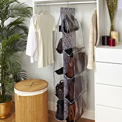 Laura Ashley - Laura Ashley 'Delancey' 10-pocket Hanging Handbag Organizer - Store up to ten purses or handbags comfortably in this hanging organizer from Laura Ashley. This innovative organizer is perfect for fashionistas, fitting inside a standard closet with no installation required.