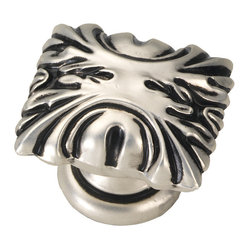 Ithica Satin Antique Silver Cabinet Knob
