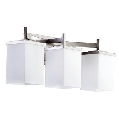 Quorum Lighting - Quorum Lighting QR-5084-3-65 Delta Modern / Contemporary Bathroom / Vanity Light - DELTA 3LT VANITY - STN