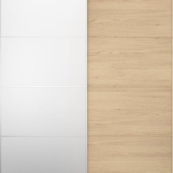 IKEA of Sweden - PAX MALM Pair of sliding doors - Pair of sliding doors, white stained oak, mirror glass