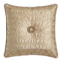 "Dian Austin Couture Home - Plisse Pillow with Rosette 16""Sq. - TAUPE - Dian Austin Couture HomePlisse Pillow with Rosette 16""Sq.Designer About Dian Austin Couture Home:Taking inspiration from fashion's most famous houses of haute couture the Dian Austin Couture Home collection features luxurious bed linens and window treatments with a high level of attention to detail. Acclaimed home designer Dian Austin introduced the collection in 2006 and seeks out extraordinary textiles from around the world crafting each piece with local California artisans."