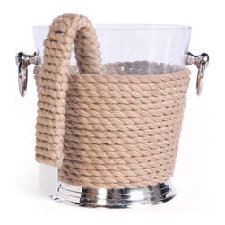 Coastal Ice Bucket and Tongs - The Coastal ice basket and tongs is made from fine-combination of sturdy materials like plastic, brass and rope. Adorning a wonderful natural finish, it is a light-weight practical accessory.
