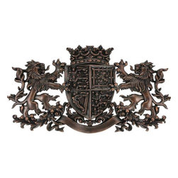 Landmark Metalcoat - Landmark Metalcoat Plaque Imperial Crown Onlay, Bronze Antique Patina - All Landmark Metalcoat products are made to order. lead time 3 -5 weeks. Proudly made in the USA.