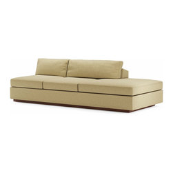 True Modern - Jackson Armless Sofa with Bumper, Tumbleweed - Open areas or odd room layouts are the perfect spaces for this chic, armless sofa. You can use it by itself or combine it with other Jackson pieces to create a sectional that is customized to your room.