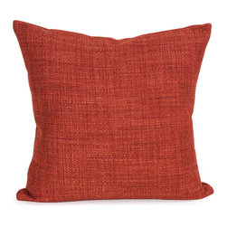 """Howard Elliott - Coco Coral 20"""" x 20"""" Pillow - Pillows are made to order. Change up color themes or add pop to a simple sofa or bedding display by piling up the pillows in a multitude of colors, textures and patterns. This Coco Pillow features a surprisingly soft burlap texture in a rich terra cotta red-orange. This Coco Coral piece is 66% polyester 34% acrylic finished in rich terra cotta red-orange. 20 in. x 20 in."""