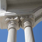 Our Products - Columns hand made with natural stone.