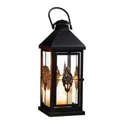 Pier Surplus - Metal European-style Hanging Candle Lantern, 19 Inch #Cl229314 - This hanging metal candle lantern features high-quality materials designed for indoor or outdoor use. Add an exotic touch of mystery and worldliness to any evening's entertainment. Whether it is hanging from a branch or set as a centerpiece, this Moroccan candle lantern is a sophisticated way to provide soft light at your wedding reception. Its beautiful decorative design encases candles to burn safely. Be sure to look at our matching 25 in. lantern!