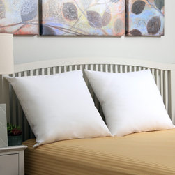 Sealy - Sealy Hypoallergenic Down Alternative Euro Square Pillow (Set of 2) - Outfit your bed with these made in the USA sham fillers that measure 26 x 26 inches. These Euro pillows feature EnviroLoft down alternative hypoallergenic polyester. Crisp cambric cotton fabric surrounds these medium density pillows,perfect for your bed.