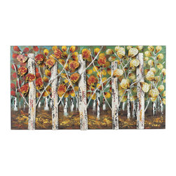 Sterling Industries - Sterling Industries 129-1107 Autumn Birch-Autumn Birch Metal Wall Decor - Wall Decor (1)