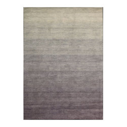 "Calvin Klein Home - Calvin Klein Home CK203 Haze HAC01 3'6"" x 5'6"" Shade Area Rug 11154 - Hand-dyed yarns for a dramatic ombr' effect in four expressive shades inspired by a gently setting sun. Features nuanced pointillist compositions in rich, modulated steel tones."