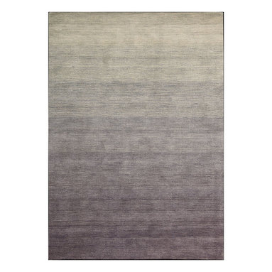 """Calvin Klein Home - Calvin Klein Home CK203 Haze HAC01 3'6"""" x 5'6"""" Shade Area Rug 11154 - Hand-dyed yarns for a dramatic ombr' effect in four expressive shades inspired by a gently setting sun. Features nuanced pointillist compositions in rich, modulated steel tones."""