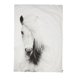 Bed Linen, Horse - Pure organic, simple and cozy duvet with horse print.