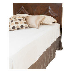 Great Deal Furniture - Bernard Parish Queen Sized Brown Mahogany Headboard - Dress up your bedroom with this elegantly designed headboard. The Bernard Parish headboard design is colonial inspired, and can attach to almost any queen metal frame bed, as well as adjust according to the height of your mattress.