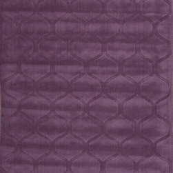 Jaipur Rugs - Handmade Looped & Cut Wool Purple/ Solid Area Rug - This collections offers simple modern geometrics in all the fashion colors. Hand loomed in 100% wool each rug make a bold  solid  color statement to compliment contemporary interiors. The pattern and texture is created through a high/low loop and pile construction. Origin: India