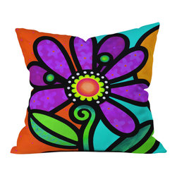 Steven Scott Cosmic Daisy In Purple Outdoor Throw Pillow - Do you hear that noise? it's your outdoor area begging for a facelift and what better way to turn up the chic than with our outdoor throw pillow collection? Made from water and mildew proof woven polyester, our indoor/outdoor throw pillow is the perfect way to add some vibrance and character to your boring outdoor furniture while giving the rain a run for its money.
