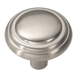 Hickory Hardware - Hickory Hardware 1-1/8 In. Bel Aire Satin Nickel Cabinet Knob - Bridges contemporary and traditional design.  Offering a deep rooted sense of history in some, with an updated feel and cleaner lines.  Crate & Barrel and Pottery Barn could be considered transitional looks.