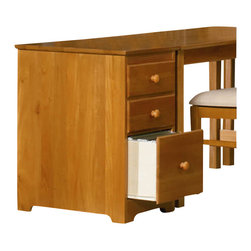Atlantic Furniture - Atlantic Furniture 3 Drawer File Cabinet in Caramel Latte - Atlantic Furniture - Filing Cabinets - H80137 - Solid hardwood construction with dovetail joinery make the Three Drawer File Cabinet a reliable storage solution for supplies and important documents. The large lower drawer has built in hanging file carriers and runs on metal drawer guides.