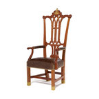 Historic Reproduction Furniture - The Rising Sun Chair was crafted by John Folwell (circa 1779) and is curated in the collection at Independence Hall in Philadelphia.