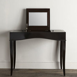 "Lauren Ralph Lauren - Lauren Ralph Lauren ""Lauren Elise"" Dressing Table - Handcrafted dressing table helps make your morning routine quick and convenient, with generous concealed storage areas large enough to keep your makeup, jewelry, and other beauty products close at hand. From Lauren by Ralph Lauren. Made of Asian hardw..."