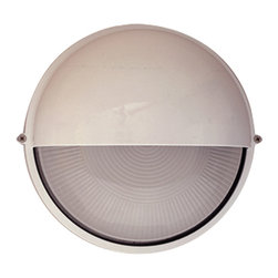 PLC Lighting - PLC 1 Light Outdoor Wall Fixture Marine Collection 4222 WH CFL - -Finish: White