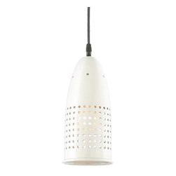 THE AIRWAY CORD-HUNG CEILING LIGHT - Airway shown in 93-White Finish with Black Cord