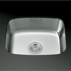 """KOHLER - KOHLER K-3182-NA Undertone Large Undercounter Kitchen Sink with 7-5/8"""" Deep Basi - KOHLER K-3182-NA Undertone Large Undercounter Kitchen Sink with 7-5/8"""" Deep BasinBring sleek sophistication to your kitchen workspace with the Undertone undercounter stainless steel sink. This single-basin offering features SilentShield(R) Plus, an exclusive sound-absorption system that reduces disposal noise and vibration from dishes and running water for quiet performance.KOHLER K-3182-NA Undertone Large Undercounter Kitchen Sink with 7-5/8"""" Deep Basin, Features:• Exterior dimensions: 16-1/4""""L x 20-1/2""""W"""