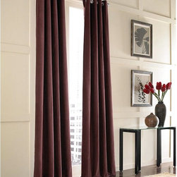 Curtainworks - Curtainworks Messina Grommet Curtain Panel - 1Q80340ABX - Shop for Curtains and Drapes from Hayneedle.com! Traditional in design the Curtainworks Messina Grommet Curtain Panel embellishes your home in style. Made of soft luscious velvet this lined tailored panel is machine washable and comes in a variety of color options.About CHF IndustriesCHF Industries based in New York is known for its home textile products and is the largest private-label supplier of retail-specific bedding products. CHF offers a diverse range of window products like panels valances shades kitchen tiers and even window hardware. CHF innovates with fashionable solutions such as energy-efficient interlined window panels taking steps to introduce organic products to protect the environment.