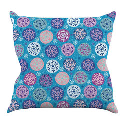 "Kess InHouse - Julia Grifol ""Floral Winter"" Throw Pillow (18"" x 18"") - Rest among the art you love. Transform your hang out room into a hip gallery, that's also comfortable. With this pillow you can create an environment that reflects your unique style. It's amazing what a throw pillow can do to complete a room. (Kess InHouse is not responsible for pillow fighting that may occur as the result of creative stimulation)."
