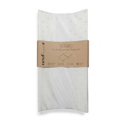 Oeuf - Pure and Simple Eco-Friendly Contoured Changing Pad, By Oeuf - Considering how much time baby spends on a changing pad, it's important to make it a thoughtful purchase. The renewable plant-based foam used in this changing pad makes it an ecofriendly choice for parents, and the sturdy support board and a waterproof cloth cover will surely be appreciated. It also comes with a safety strap so it can be attached to any dresser for added security.