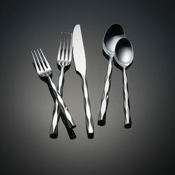 Yamazaki - Yamazaki Cable 5-piece Flatware Place Setting - Enhance both your table and dining pleasure with a 5-piece place setting from Yamazaki's Cable collectionFlatware set provides service for oneDining utensils are constructed of 18/8 stainless steel