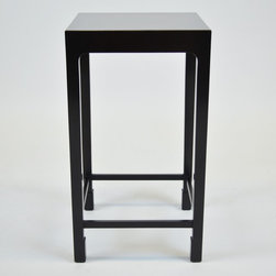 Christian-Liaigre Square Side Table - Dimensions:L 14''  × W 14''  × H 25''