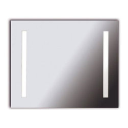 "Kenroy - Kenroy-90831-Rifletta Large Vanity Mirror - Lights and a mirror in one, Rifletta sits flush with just a 2"" extension from the wall offering maximum surface in minimal space.  Contemporary and brillantly lit, this funtional design element is available in 3 sleek configurations."