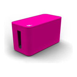 Pink Small Cable Box - Make it way nicer under your desk.