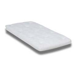 "Wolf Corporation - Mattress Topper in White (King) - Choose Size: KingEnhances the surface comfort of your current mattress without a full replacement. May extend the life of your current mattress if it is in good condition. Warranty: 3 years. No assembly required. Twin: 75 in. L x 39 in. W x 4 in. H (30 lbs). Twin-XL: 80 in. L x 39 in. W x 4 in. H (35 lbs). Full: 75 in. L x 54 in. W x 4 in. H (40 lbs). Queen: 80 in. L x 60 in. W x 4 in. H (45 lbs). King: 80 in. L x 76 in. W x 4 in. H (50 lbs)The Oahu is a mattress topper that utilizes Wolf Corporations ""Cloud"" as its core. The ""Cloud"" is Wolf's foam replacement pad made out of cotton and polyester. Proven to provide the same durability and resiliency of foam, but with mainly natural components. The ""Cloud"" core is covered with two layers of Wolf's cotton batting. The thermo-physical properties of cotton also help regulate temperature, preventing overheating and ensuring comfortable sleep. When one chooses our 100% cotton cover you will create a natural mattress topper."