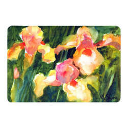 Caroline's Treasures - Flower - Orchid Kitchen or Bath Mat 24 x 36 - Kitchen or Bath Comfort Floor Mat This mat is 24 inch by 36 inch. Comfort Mat / Carpet / Rug that is Made and Printed in the USA. A foam cushion is attached to the bottom of the mat for comfort when standing. The mat has been permanently dyed for moderate traffic. Durable and fade resistant. The back of the mat is rubber backed to keep the mat from slipping on a smooth floor. Use pressure and water from garden hose or power washer to clean the mat. Vacuuming only with the hard wood floor setting, as to not pull up the knap of the felt. Avoid soap or cleaner that produces suds when cleaning. It will be difficult to get the suds out of the mat.