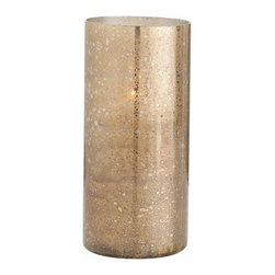 Arteriors - Hagar Hurricane, Tall - You'll get your glow on with this lantern. Though simple in design, its gold and brown reactive glaze creates gorgeous mood lighting wherever you choose to set it.