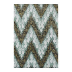Alliyah Rugs - Frost Green Contemporay Rug - Alliyah Handmade New Zealand Blend Wool Rug with Frost Green Color. Antique  Washed.