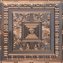 "Decorative Ceiling Tiles - African Safari - Copper Ceiling Tile - 24""x24"" - #24004 - Find copper, tin, aluminum and more styles of real metal ceiling tiles at affordable prices . We carry a huge selection and are always adding new style to our inventory."