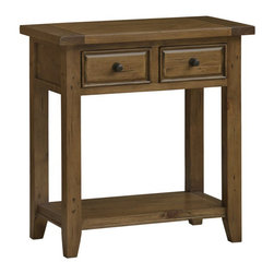 Hillsdale - Hillsdale Tuscan Retreat 2 Drawer Console Table in Antique Pine - Hillsdale - Console Tables - 5225896W - Tuscan Retreat TM accent pieces are authentic artisan interpretations of old world and cottage furniture. Each piece is crafted from new and restored timbers to give it the appearance of a century old treasure. The finished are hand prepared from the sanding and scrapping to the final steps. Featuring solid wood throughout and old world cabinet construction. Every detail is designed to bring you years of enjoyment.