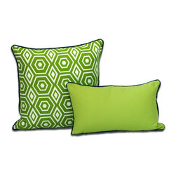 ez living home - Honeycomb Dec Pillow, Lime - *Aesthetically pleasing geometric pattern, EZ to decorate with, suitable for any style.