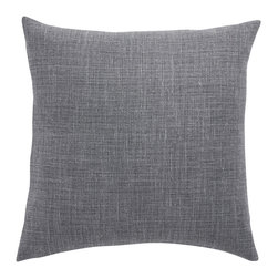 Barn & Willow - Belgian Linen Pillow Cover - Shale, 20 X 20 - Our Belgian linen pillow is made from flax grown and woven into linen in the finest mills of Belgium. It is known for its quality, impeccable weave and finish.