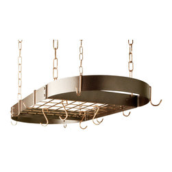 "Rogar - Oval with Grid, Black/Copper - Dimensions:  34"" x 16"